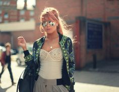 Jacket with spiked top