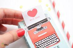 DIY Paper Typewriter Tutorial with FREE Printable