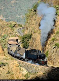 RailPictures.Net Photo: 442 54 Eritrean Railways Steam 0-4-4-0T Mallet at Between Shegereni and Asmara, Eritrea by Daniel SIMON
