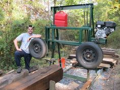 Diy Bandsaw Mill Awesome Homemade Bandsaw Mill by Lumberjocks Woodworking. Wood Mill, Lumber Mill, Saw Mill Diy, Homemade Bandsaw Mill, Chainsaw Mill Plans, Diy Bandsaw, Homemade Tools, Wood Tools, Wood Cutting