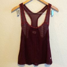 Lace Tank This lace tank is delicate and pretty. Hollister Tops Tank Tops