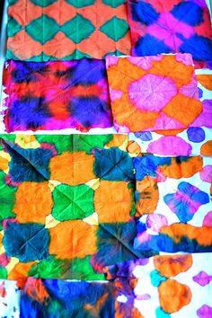 all colorful art projects with tissue
