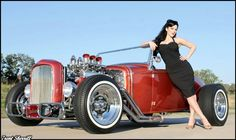 hot rods and girls   Pinup of the Month Crissy Henderson - Pin-up Model Photos   MyRideisMe ...
