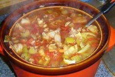CROCKPOT Cabbage soup w/hamburger! Ingredients-> pounds of hamburger 1 head of cabbage, chopped 2 cup celery, diced 2 cup white or yellow onion,. Slow Cooker Recipes, Crockpot Recipes, Cooking Recipes, Keto Recipes, Keto Foods, Hamburger Recipes, Skinny Recipes, Easy Recipes, Healthy Recipes