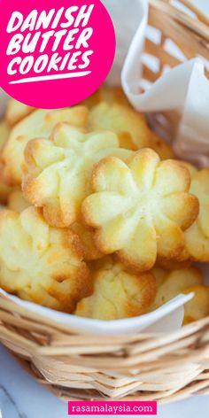 Danish Butter Cookies, Butter Cookies Recipe, Cookie Recipes, Dessert Recipes, Desserts, Rasa Malaysia, Quick Easy Meals, Foods, Baking
