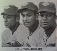 """Los Hermanos Rojas Alou, Mateo """"Matty"""", Jesús y Felipe con los Leones del Escogido."""