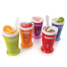 The Zoku Slush and Shake Maker is a fun tool that allows you to make delicious frozen drinks at home. It can make delicious slushies, frozen cocktails, and fruit smoothies in less than 10 minutes. Slushies, Slushy Maker, Milkshake Maker, Milk Shakes, Frozen Cocktails, Little Chef, Cheap Dinners, Holidays With Kids, Cooking Tools