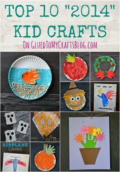Top 10 Kid Crafts from Glued to My Crafts Blog - tons of paper plate crafts and handprint & footprint art!