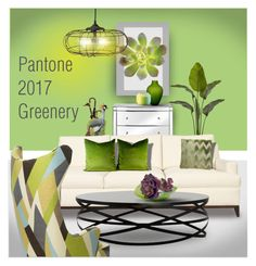 """""""Pantone 2017 Greenery"""" by constanceann ❤ liked on Polyvore featuring interior, interiors, interior design, home, home decor, interior decorating, Napa Home & Garden, Villeroy & Boch, Rosenthal and Nearly Natural"""