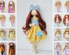 Handmade doll Tilda doll Interior doll Soft doll Textile doll