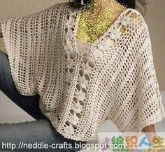 بلوزه كروشيه حلوه جدا جدا beautiful crochet beluse top ~ شغل ابره NEEDLE CRAFTS