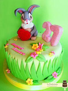 Torta con il coniglietto Tippete www.la-pasticciona.it