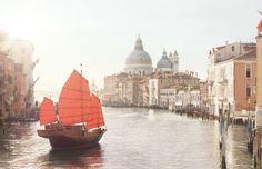 L'invitation au voyage, Venice. Discover the latest @Angela Bertasson Vuitton Official campaign. #louisvuitton
