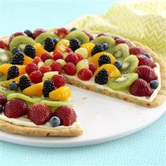 Enjoy the fresh fruit of Spring with this recipe for Gluten Free* Funfetti® Fruit Pizza from Pillsbury™ Baking.