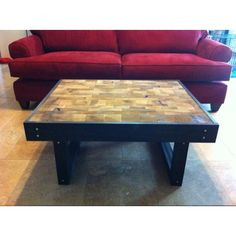 Coffee table made from left over wood scraps