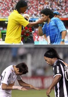 Ronaldinho and Maradona, cracks!