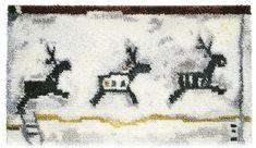 """""""Sun Road"""" (2003), design: Johanna Suonpää #ryijy #Aurinkotie #JohannaSuonpaa #contemporary #SuomenKasityonYstavat #FriendsOfFinnishHandicrafts Rya Rug, Rug Hooking, Diy Kits, Loom, Designer, Stitch, Rugs, Fabric, Art Things"""