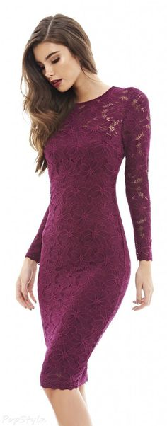 AX Paris Lace Bodycon Midi Dress