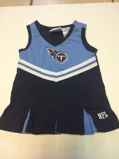 Baby's NFL Titans Cheerleader Outfit Blue White Football Size 6 9 Months Costume | eBay