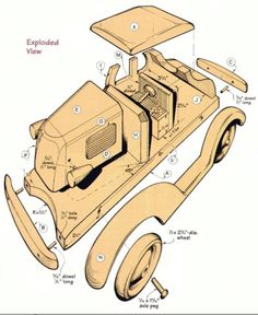 Wooden Deuce Coupe Plan – Children's Wooden Toy Plans and Projects   Woodworking Session