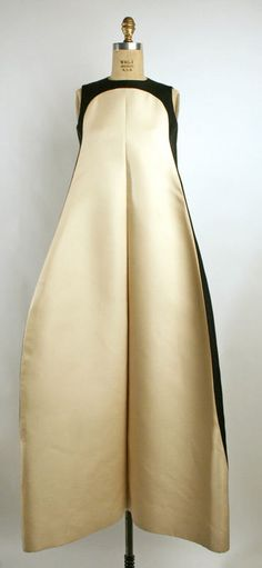 Evening Dress (French) ca. 1968 silk omg