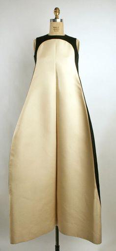Evening Dress (French) ca. 1968 silk
