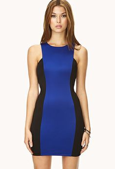 Bold Colorblocked Bodycon Dress | FOREVER21 - 2031558196 less than $20