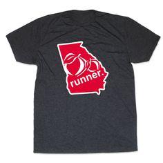 Mens Lifestyle Runners Tee Georgia State Runner | Running Mens Cotton Tshirts