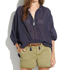 Madewell Openview Tunic In DottEd Line A flowy, effortless shape. A cool, subtly graphic print. Toss it on, wear it everywhere. Summer Outfits, Casual Outfits, Cute Outfits, Style Simple, My Style, Chic, Spring Summer Fashion, Madewell, Boho