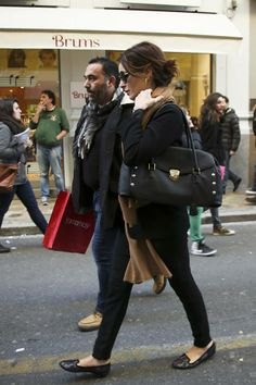 Violante Placido spotted with the Rider bag