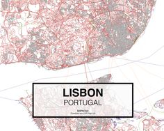 Lisboa Lisbon Portugal. Download CAD Map city in dwg ready to use in Autocad.  www.mapacad.com