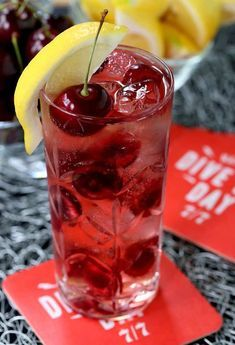 This Cherry Bomb 7 And 7 Is The Perfect Drink To Celebrate National Dive Bar Day Cocktails Whiskey Drinks Cherry Vodka Drinks Bomb Drinks Perfect Drinks