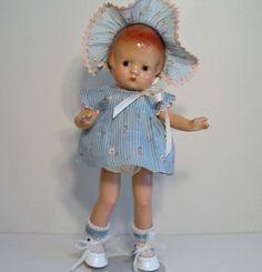 "Vintage 1930s 9 1 2"" Composition Effanbee Patsyette Doll So Cute   eBay"