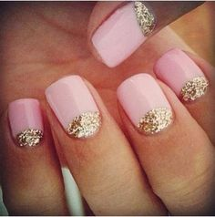 gold and pink mani!!! love this combo