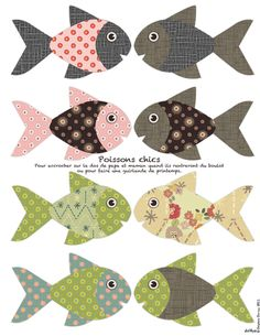 paper fish to celebrate April Fool's Day like the French - Non dairy Diary Diy Paper, Paper Crafts, Diy Crafts, Dairy Diary, Paper Fish, Printable Paper, Printable Fish, April Fools Day, Applique Patterns