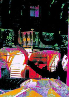 Evening Greeting Card featuring the photograph Across D Street by Expressionistart studio Priscilla Batzell