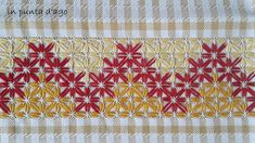 in punta d'ago Sewing Crafts, Sewing Projects, Diy Crafts, Chicken Scratch Embroidery, Herringbone Stitch, Art Textile, Embroidery For Beginners, Giza, Butterfly Design