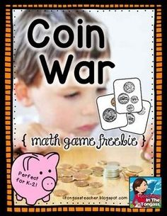 See the Comments & Ratings section below? Please take 10 seconds to leave feedback! I'd really appreciate it and will keep the FREEBIES coming if I get more feedback!   A math game or center for young students to learn coin value and coin identification.