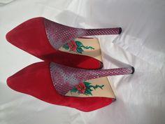 Custom Artwerk'd heels for the girls Bespoke, Heels, Fashion, Taylormade, Heel, Moda, Fashion Styles, Shoes High Heels, Fashion Illustrations