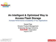 #FlashStorageAccess in an Intelligent & Optimized Way, #Electronics