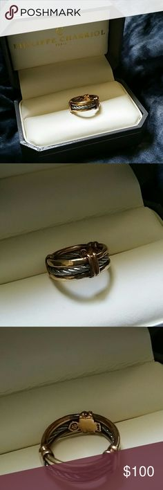 philippe charriol two tone cable band ring