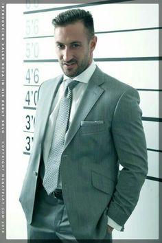 Business Shirts, Business Outfit, Business Dresses, Mens Fashion Suits, Mens Suits, Formal Men Outfit, Formal Dress, Handsome Bearded Men, Classic Suit