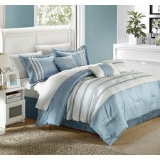 Torino Pleated Piecing 7 Piece Comforter Set