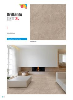 """Millennium Tiles 800x800mm (32x32) Vitrified Matt Porcelain XL Tiles Series """"Salvia Brown"""""""