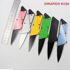 Shnapign monedero plegable mini tarjeta de crédito de bolsillo del cuchillo de caza cuchillos de supervivencia sharp cuchillo de rescate táctico al aire libre 6 colores