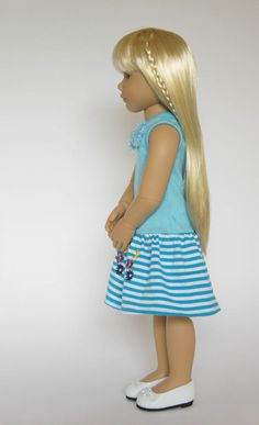 Such a cute side view of Kidz 'n' Cats Marina, a new doll for 2015 by Sonya Hartmann