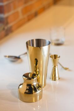 This French-style shaker from Viski is made from durable stainless steel with an elegant, eye-catching gold finish. It holds up to 25 ounces for efficient shaking of multiple cocktails at once. Get product details! Bar Tools, Cocktail Shaker, Barware, Cocktails, Stainless Steel, French Style, Instagram Posts, Gold, Eye