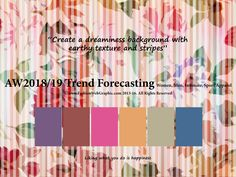 AutumnWinter 2018/2019 Trend Forecasting for Women, Men, Intimate, Sport Apparel - Create a dreaminess background withearthy texture and stripes www.JudithNg.com