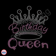 Birthday Queen Rhinestone Iron-on Crystal Bling Hotfix Sparkle Transfer Applique - Make Your Own B-Day Shirt DIYI! - - Birthday Queen Rhinestone Iron-on Crystal Bling Hotfix Sparkle Transfer Applique – Make Your Own B-Day Shirt DIYI! 19 Birthday Quotes, Birthday Quotes For Best Friend, Happy Birthday Images, Happy Birthday Greetings, Birthday Pictures, Queen Birthday, 19th Birthday, Birthday Month, Birthday Board