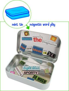 Magnetic Word Play - a great activity for readers. Use for sorting, articulation, describing, sentence structure, and more. Skip the magazines - print your words on colored paper.